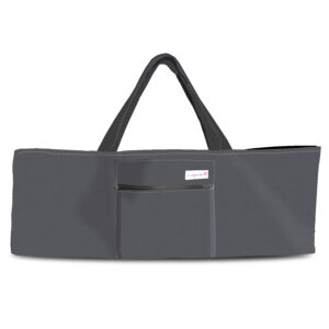 over the shoulder yoga bag gray