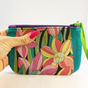 shine your heart Flower Lane Small Zippered Pouch