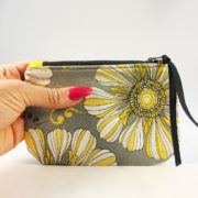 shine your heart flower lines zippered pouch