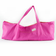 always shine your heart hot pink over the shoulder yoga mat bag