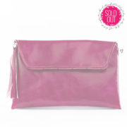 shine your heart raspberry delight vegan leather clutch