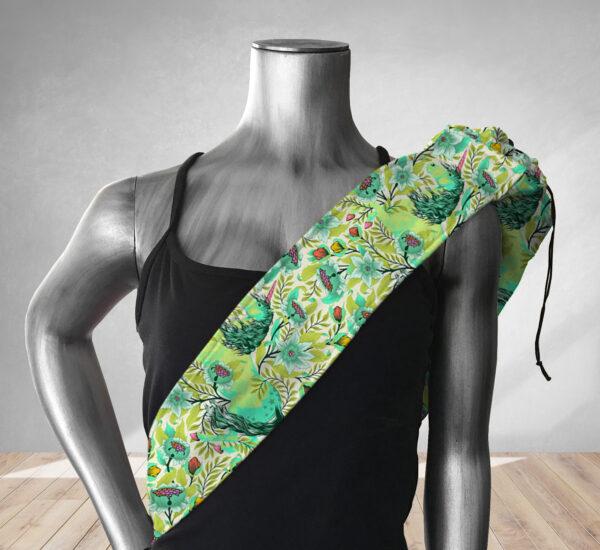 Magical Poppies Lime Yoga Bag