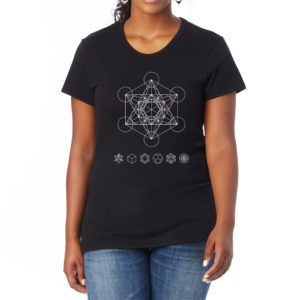 Shine Your Heart Metatron's Cube Sacred Geometry Women's Tee