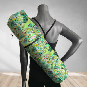 Magical Poppies Lime Yoga Bag 201903A
