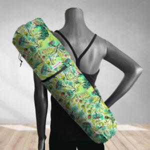 Magical Poppies Lime Yoga Bag 201903A