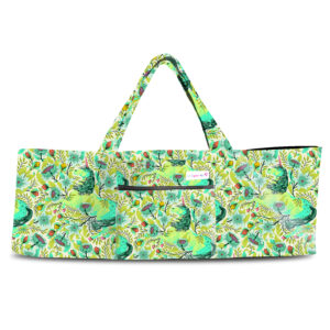 Magical Poppies Lime Shoulder Yoga Bag 201903OTS