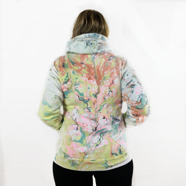 Shine Your Heart Marbled Hoodie - Sherbet River