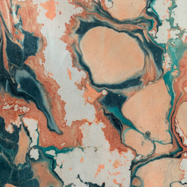 Hand Marbled Fabric - Rivers & Pebbles