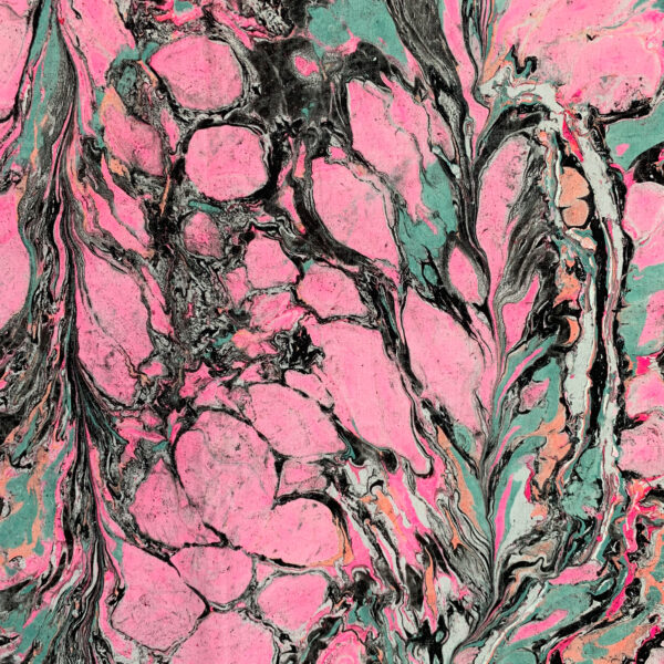 Hand Marbled Fabric - Tenacious