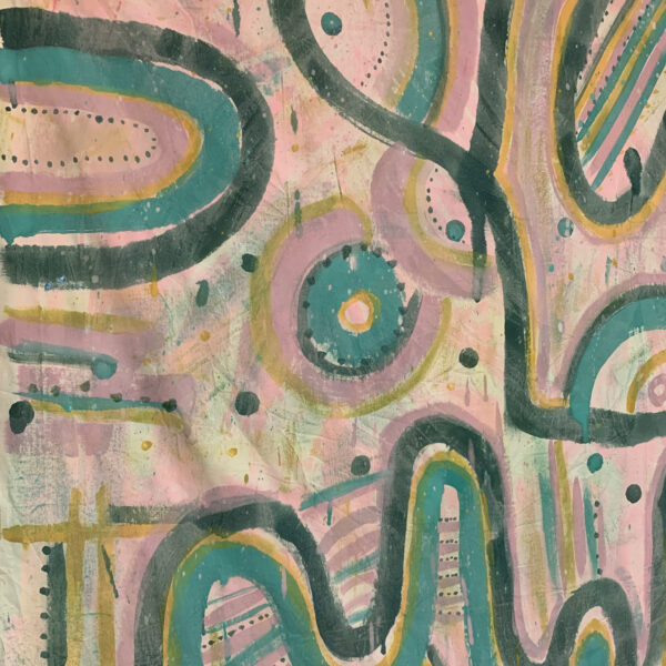 Maude Waves Painted Fabric