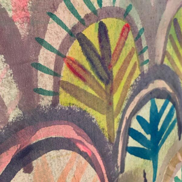 Painted Fabric - Sun Scallops