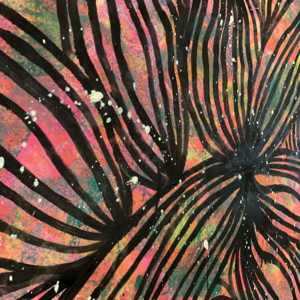 Painted Fabric - Lemuria
